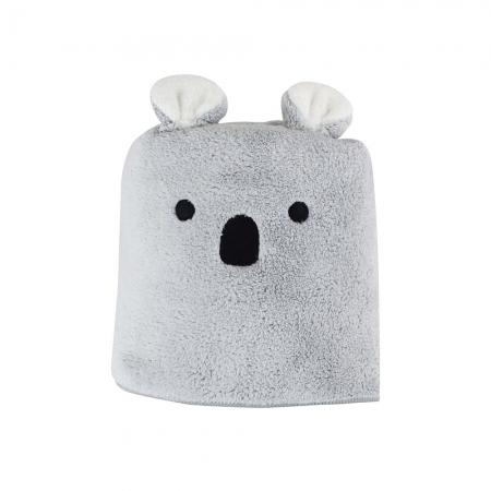 【CB JAPAN 日本】動物造型超細纖維毛巾-無尾熊灰