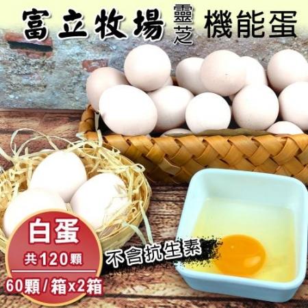 【富立牧場】靈芝機能蛋家庭號20顆x6盒,共120顆-白殼蛋