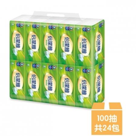 【倍潔雅】柔軟舒適抽取式衛生紙100抽x12包x2袋