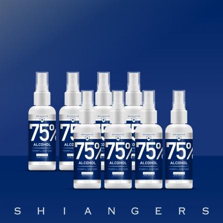 香爵 Shiangers 75% 酒精 食品級植物乙醇 100ml隨身瓶*8