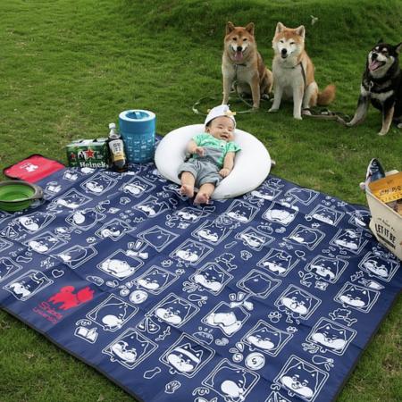 柴老大表情包野餐墊 沙攤墊 加厚防水 柴犬週邊