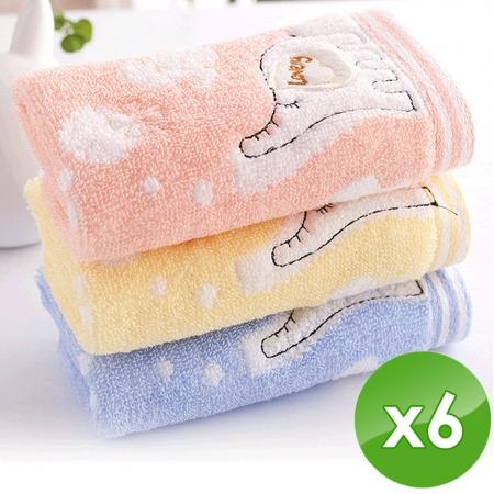 【HKIL-巾專家】大象兒童毛巾-6入組(3入/包x2包)