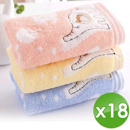 【HKIL-巾專家】大象兒童毛巾-18入組(3入/包x6包)