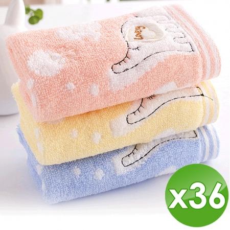 【HKIL-巾專家】大象兒童毛巾-36入組(3入/包x12包)