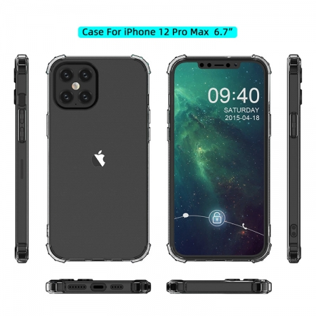 iPhone12 Pro Max 手機保護殼 軍事防摔四角氣墊保護手機