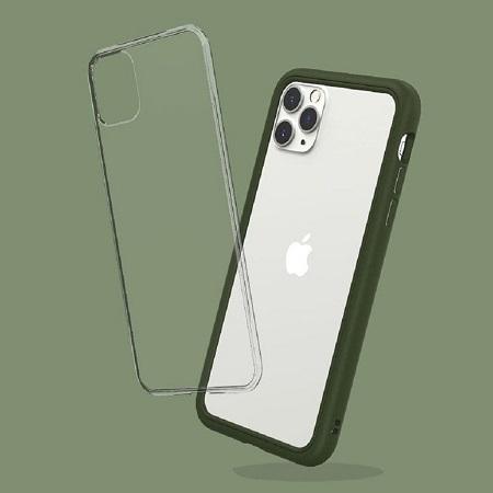 〔美式賣場〕犀牛盾 iPhone 11 Pro Max Mod NX 手機殼+耐衝擊正面保護貼 軍綠