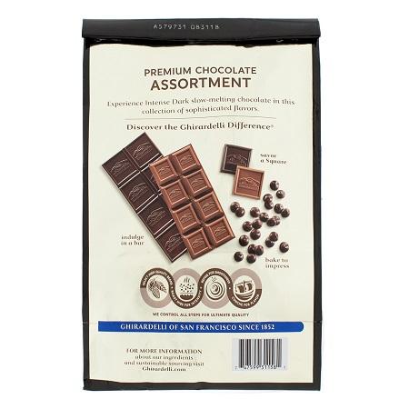 〔美式賣場〕Ghirardelli 黑巧克力綜合包 - 3種口味 (51入) 543.1 公克