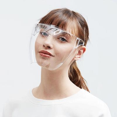 太空面鏡 全面罩防護面鏡 (防霧加強) 防疫防飛沫防油高清透明面罩[護目鏡加強款] 8組
