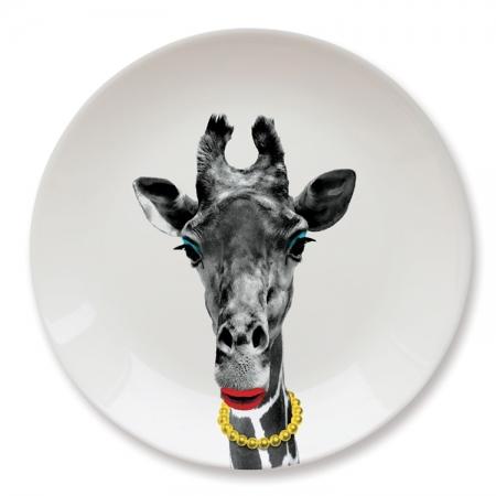 【Mustard】英國 Mustard 動物餐盤 9 吋 - 長頸鹿 趣味 送禮 可愛 陶瓷