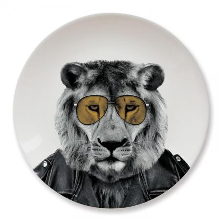 【Mustard】英國 Mustard 動物餐盤 9 吋 - 公獅 趣味 送禮 可愛 陶瓷