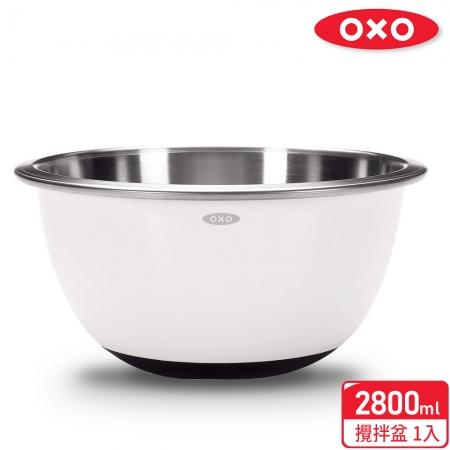 【OXO】活力沙拉工具三件組(華麗三刀+攪拌盆2.8L+矽膠料理長筷)超值組合