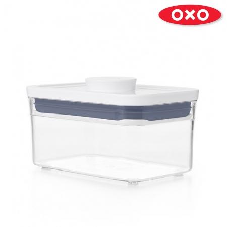 【OXO】POP按壓保鮮盒-長方0.6L二入組