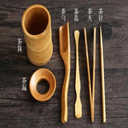 《台灣製》茶道六君子 茶道用具 泡茶用具