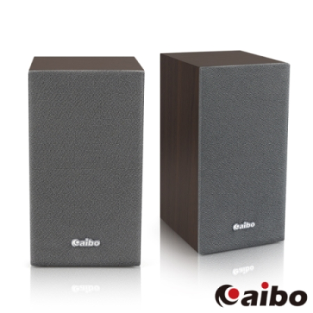 aibo LA2011 木質二件式 USB多媒體喇叭(線控音量調節器)