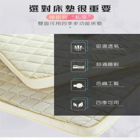 【DaoDi】真4D回彈記憶五層床墊尺寸雙人床墊150x200cm(厚度10cm 軟床墊 宿舍床墊