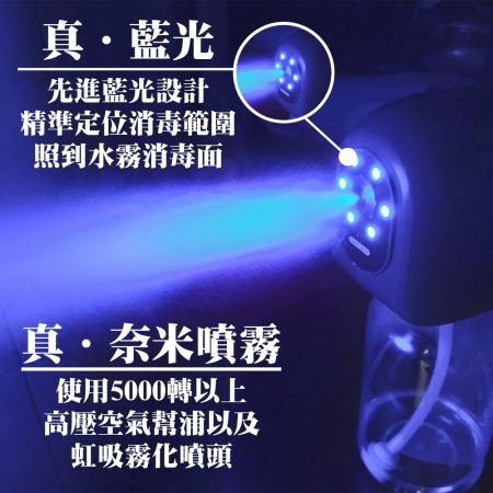 SAOSIS守席-最新一代微奈米藍光消毒霧化機(加碼送次氯酸全效抗菌液500mlx5瓶)