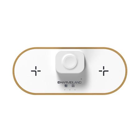 【NCC檢驗合格】三合一雙10W雙位無線充電板 (WS19002) [限時下殺]