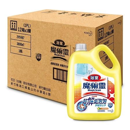 〔美式賣場〕魔術靈 浴室清潔劑 檸檬香 3800毫升 X 3入
