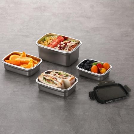 〔美式賣場〕Neoflam 不鏽鋼保鮮盒含蓋 10件組