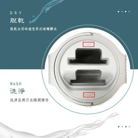 EZmakeit-KK1 新洗脫刮雙向平板乾濕兩用拖把組 手不濕 雙卡扣 拖布不脫落 水桶自動排水