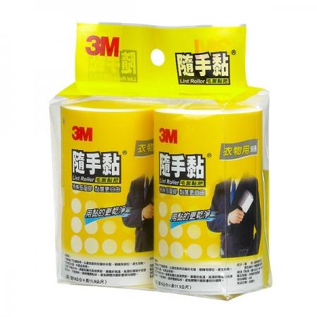 【3M】隨手黏衣物黏把+補充包組